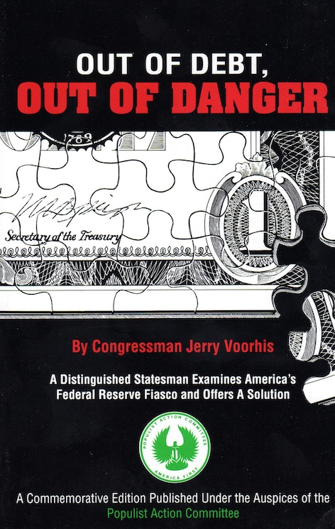 Out of Debt Out of Danger Congressman J.Voorhis