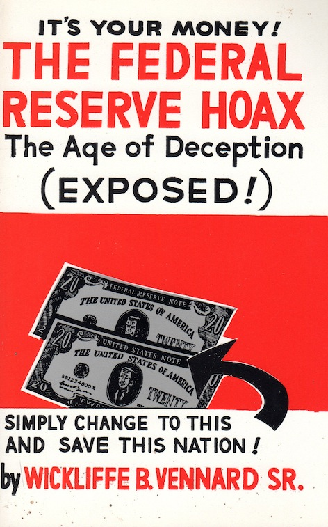 Veritas Books: The Federal Reserve Hoax W.B.Vennard Sr