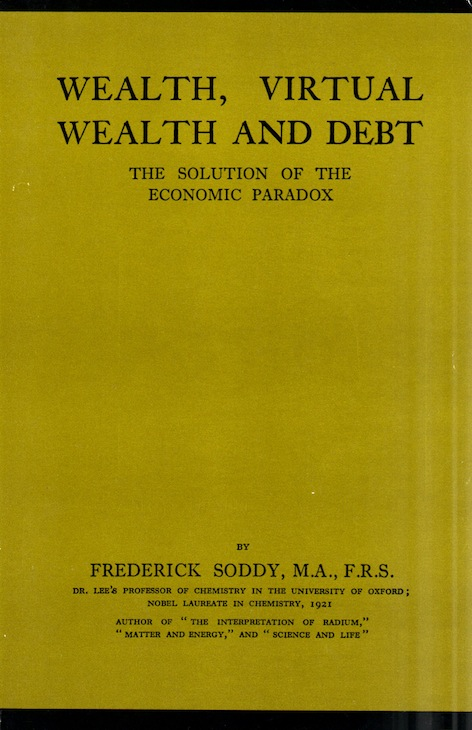 Veritas Books: Wealth Virtual Wealth and Debt F.Soddy