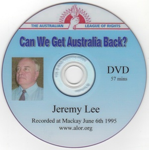 Veritas Books: Can We Get Australia Back J.Lee