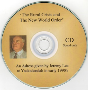 Veritas Books: The Rural Crisis and The New World Order J.Lee