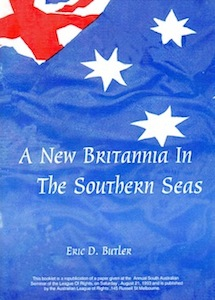 Veriras Books: A New Britannia in the Southern Seas Eric D. Butler